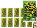 AUS SG4637b $10 Stamp Collecting Month 2016: Southern Corroboree Frog self-ad booklet (SB560) pane